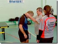 Горбунов Олег получает медаль